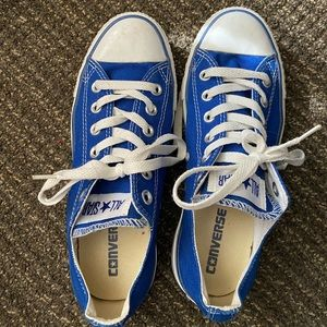 Blue Converse Sneakers